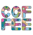 Coffee word colorful vector image vector image