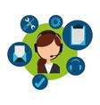 customer service vector image vector image