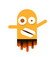 cute monster logo for packaging and design vector image