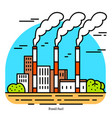fossil fuel power plant thermal powerhouse or vector image vector image