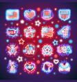 fourth of july signs with sparkles vector image vector image