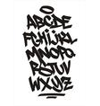 graffiti font Handwritten alphabet vector image vector image