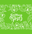 green floral frame for greeting card with vector image vector image