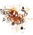 Grunge floral element vector image vector image