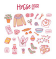 hygge awesome stickers set vector image vector image