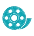 Isolated film reel design vector image vector image