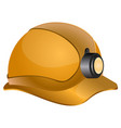 isolated industrial helmet vector image