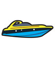 isolated ship toy vector image