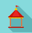 kid castle tent icon flat style vector image vector image