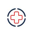 medical logo concept logo icon vector image vector image