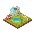 mobile house isometric vector image vector image