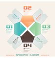 Modern Origami Style Number Options Infographic vector image