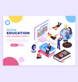 online education isometric poster vector image vector image