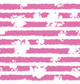 pink and white floral textured stripes pattern vector image