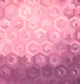 Pink isometric background vector image