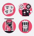 Retro Movie Icon Set vector image vector image