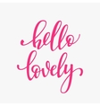Romantic love lettering typography vector image vector image