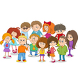 school kids group cartoon vector image vector image