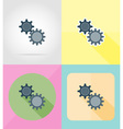 service flat icons 16 vector image vector image