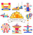 set amusement park elements vector image vector image
