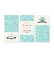 set cards wedding invitations vector image vector image
