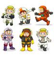set of astronaut character vector image