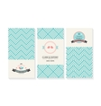 set of cards wedding invitations with vector image vector image