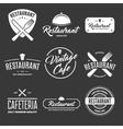 set vintage style elements labels and badges vector image
