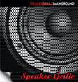 speaker grille background vector image vector image