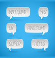 speech bubbles shapes for design promotion vector image vector image