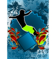 surfing summer background vector image