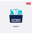 two color grocery icon from commerce concept vector image