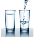two glasses of full and vector image