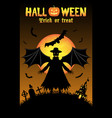vampire with halloween background vector image