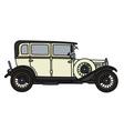 Vintage light limousine vector image
