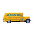 vintage yellow school bus side view school vector image vector image