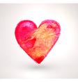 Watercolor Love Heart vector image vector image