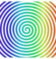 white rainbow round abstract vortex hypnotic vector image vector image