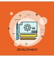 Development icon from Business Bicolor Set This vector image