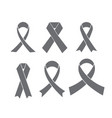 set of breast cancer awareness ribbon vector image