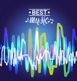 best music banner colorful modern musical poster vector image