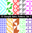10 Retro Patterns Textures Set 7 vector image vector image