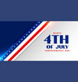 4th july american independence day flag style vector image vector image