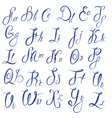 ABC - English alphabet - Handwritten calligraphic vector image vector image