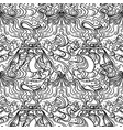abstract black and white seamless pattern art vector image vector image