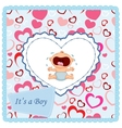 Baby crying card vector image vector image