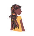 beautiful african american girl smiling relaxed vector image vector image