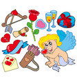 big collection of valentine images vector image