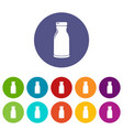 bottle shampoo icons set color vector image vector image