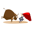 Bullfight vector image